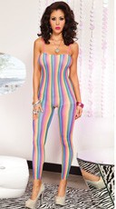 Rainbow Stripes Bodystocking