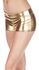 Banded Metallic Shorts