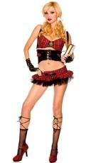 Sexy Gothic School Girl Costume