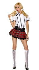 White Collar School Girl Costume