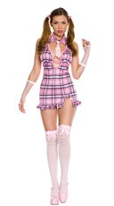 Pink School Girl Costume