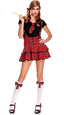 Suspender School Girl Dress Costume