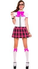 Adorable Nerd School Girl Costume