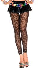 Seamless Black Lace Leggings