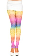 Skull Print Rainbow Leggings