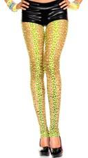 Neon Green Leopard Pothole Leggings