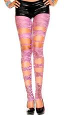 Cut Out Zebra Print Leggings