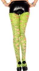 Neon Green Leopard Cut Out Leggings
