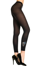 Glitter Skull and Anchor Leggings