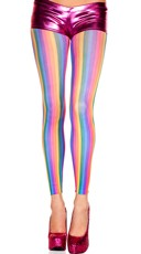 Vertical Rainbow Stripe Leggings