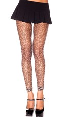 Leopard Fishnet Leggings