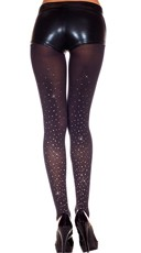 Faux Rhinestone Tights