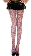 Neon Leopard Pantyhose