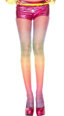 Rainbow And Lace Stretch Pantyhose