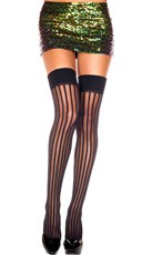 Vertical Striped Thigh Highs