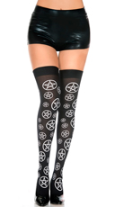 Star Pentagon Thigh High Stockings