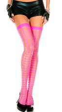 Oval Netted Thigh Highs