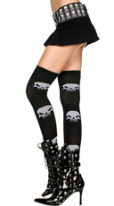 Skull Thigh Highs