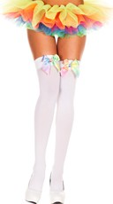 Rainbow Bow Stockings