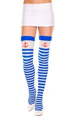 Striped Thigh High with Anchor