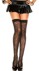 Spider Web Sheer Thigh Highs