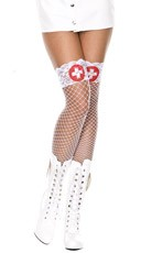Fishnet Nurse Thigh Highs