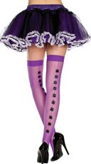 Fishnet Thigh Highs with Spider Backseam