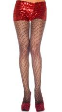 Diamond Design Lurex Pantyhose