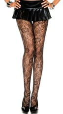 Floral Lace Netted Pantyhose