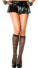 Horizontal Stripe Sheer Knee Highs
