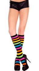 Striped Rainbow Knee Highs