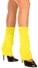 Ribbed Acrylic Footless Leg Warmers
