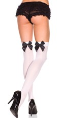 Over the Knee Stockings with Bow