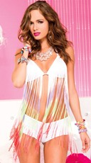 Rainbow Fringe Bra and Boyshort