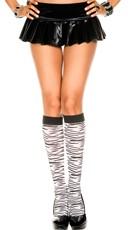Zebra Print Knee Highs