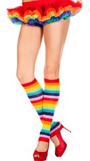 Footless Rainbow Knee High Stockings
