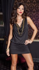 Draped Spandex Mini Dress