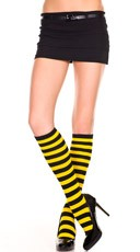 Wide Striped Knee Highs