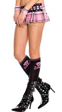 Knee High Socks with Crossbone Print