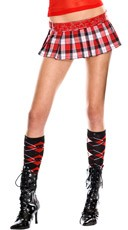 Skull Argyle Knee High Socks