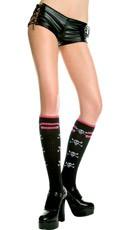 Knit Socks with Skull Detail