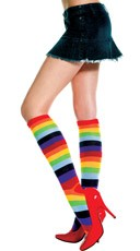 Rainbow Knee Socks