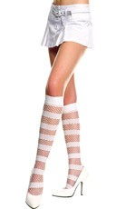 Opaque and Diamond Net Knee Highs