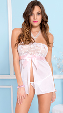 Blushing Bride Strapless Babydoll