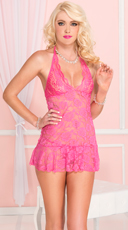Hot Pink Lace Chemise