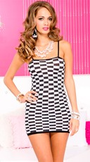 Checkered Mini Dress Chemise