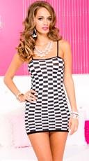 Checkered Mini Dress Chemise
