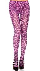 Hot Pink Cheetah Pantyhose
