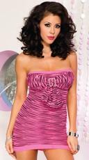 Pink Zebra Bow Front Dress