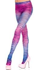 Neon Pink and Purple Zebra Pantyhose